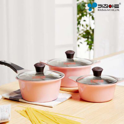 Qoo10 at075 kitchen art 3pcs pot set juliet cny new for Qoo10 kitchen set