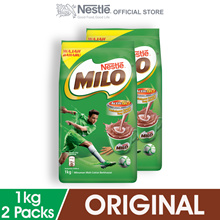NESTLE MILO ACTIV-GO CHOCOLATE MALT POWDER 1kg  2 Packs