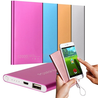 No ship to Canada)Ultrathin 12000mAh Portable USB External Battery Charger Power Bank For Phone