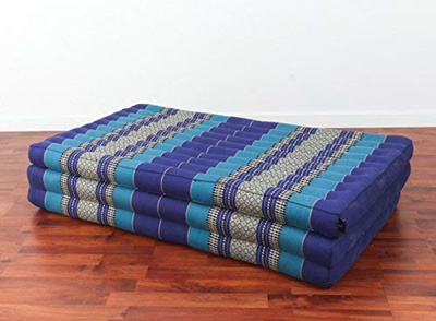 Roll Mattress Fitness and Relaxation LxWxH 100/% Kapok Filling for Yoga LivAsia Thai Mat 79x57x2 inches Massage