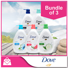1+1+1 [Dove] Body Wash 1 Litre x 3 bottles