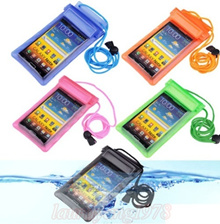 ★ SG Seller★ Waterproof Pouch Dry Bag Underwater Case Cover Holder with Lanyard fr Samsung S5 S4 S3 Note 3 2 iPhone 5 5S 5C 4 4S 3G HTC LG Sony Ericsson Nokia Huawei Xiaomi Cellphones Mobile Phone etc
