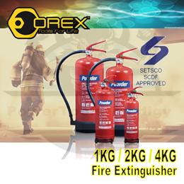 OREX FIRE EXTINGUISHER 1KG/2KG/4KG/6KG ABC POWDER TYPE / FOR YOUR SAFETY