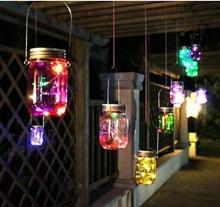 LED Fairy Light Solar Mason Jar Lid Lights Color Changing Garden Decor Lanterns