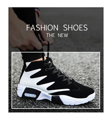 Spring and fall male shoe student sneaker heightening gao helps recreational run shoe