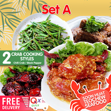 Soon Huat Teochew Set A. Crab/Pork Rib/French Bean and Rice. Free Delivery for limited time