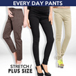 [BUY 1 GET 1] BEST SELLER!! Jogger Pants dan Casual Pants Stretch 14 WARNA Good Quality / Celana Panjang wanita / Legging / Celana katun strecht