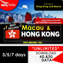Hong Kong and Macau: NEW#   3/5/7 days unlimited 4G Data. Plug and Play. No Expiry