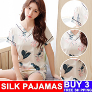Simulation silk pajamas/Ladies sleepwear/ women pyjamas/ girl pajamas/ women dress/ sexy sleepwear