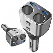 HYUNDAI A302 Car Charger Universal Dual USB Multifunctional Mobile Phone Charger Car