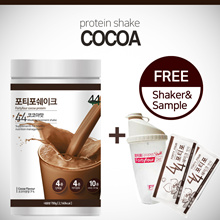 ★Free Shaker+Sample★ FORTYFOUR Diet Protein Shake / Cocoa / Weight Loss / Protein bulk