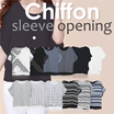 [The JUddy] JD 1508716 Women Chiffon Sleeve Opening