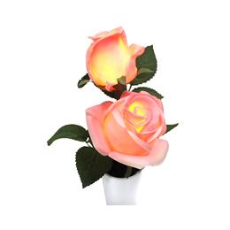 玫瑰LED花盆 - 淺粉紅色