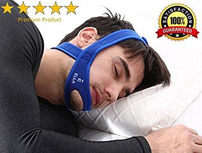 ella[ELLA] Anti-Snoring Chin Strap- Adjustable and Flexible Anti-Snoring  Strap- Durable Sleep Aid for Me