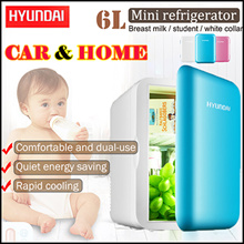 HYUNDAI !HD-6L Portable Mini Fridge Refrigerator /Car Use/Home Use/12/220 V Temperature Variations