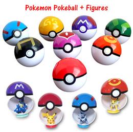 9 / 13 Pieces/set Pokeball Pokemon Figures Snorlax Pikachu Poke Ball Toy Gift