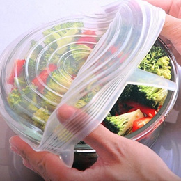 [SG Local Fast Delivery] 6pcs of Reusable Stretchable Food Storage Lids ★ Seal and Wrap Food