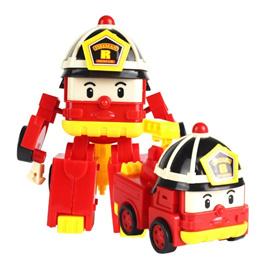 KissX Robocar Poli Transformer Car Vehicle Fireman Changing Truck Toy Car Children Kids Boys Toys