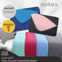 [Epitex]Bundle of 2 ★ SilkySoft Dual Colour Summer Blanket ★ 5 Colours available ★