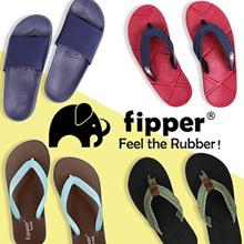 [Fipper] Men Slippers - Rubber Sandals-Slip On-Ultra X-Wide-100% Authentic -UK5-UK12
