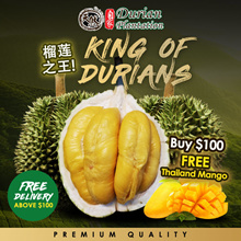 FREE Thailand Mango (3pcs) ★榴莲之王 | MSW / TSW / Black Gold Durian | More than 10 Types | Fresh or Frozen available