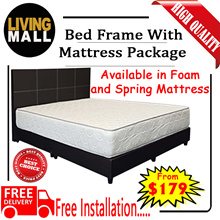 BED FRAME WITH MATTRESS PACKAGE | 4 SIZES AVAILABLE | Free Delivery and Installation