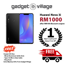[RM1000 After Applied Digital Coupon] Huawei Nova 3i 128gb/4gb - Official Huawei Malaysia Warranty
