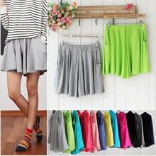 Casual shorts / loose / short skirt / beach pocket wide leg pants / summer thin section new