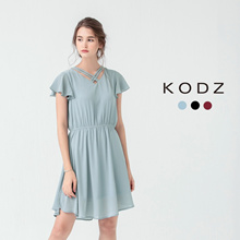 KODZ - Flutter Sleeve Dress-171561-Winter