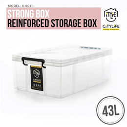 WOW DEAL! - Citylife Strong Box  43L - Reinforced for stronger durability