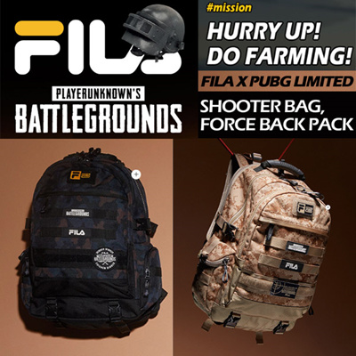 6cee02041b34  FILA x BATTLE GROUNDS  Limited Edition Shooter bag BACKPACK 2Type Do  Farming!