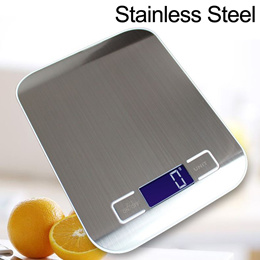 Stainless Steel LCD Digital Kitchen Food Weighing Scale 10kg(1g) Ideal for Baking Cooking Free Batte