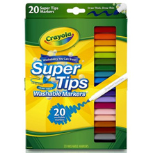 CRAYOLA 588106 Super Tips Washable Markers 20