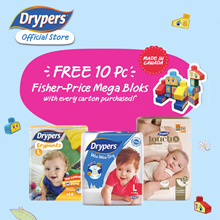 FREE FISHERPRICE MEGABLOKS / Drypers Wee Wee Dry New Improved Version / Drypantz / Touch Carton Sale