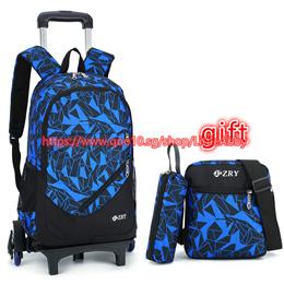 Kids Backpack With Wheels Stair Trolley School Bags Children Backpack Schoolbags kids Wheeled Book