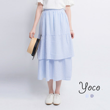 YOCO - Layered Stripe Skirt-6012853