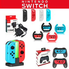 ❤Geeks❤ Nintendo Switch Protective Bag Pouch Glass Silicone Rubber Case Charging Stand /SG