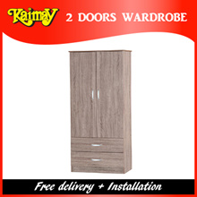 KM8008 2 Door wardrobe