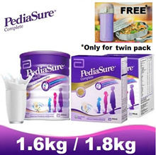 PEDIASURE [Twin Pack 2 x 1.6kg FOC Flask/ Lunchbox] - Vanilla ★MADE IN SINGAPORE FOR MALAYSIA★