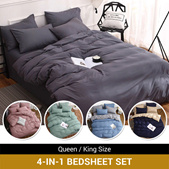 *2020 LATEST* 4 IN 1 Bedsheet for new Design / QUILT COVER /  FITTED  Sheet /  Soft and Comfortable