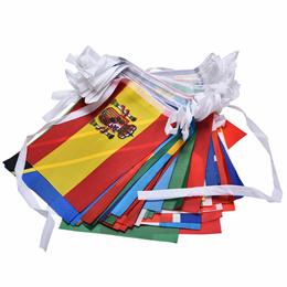 Countries String Flag 25M International World 82ft Bar Party Bunting 100pcs