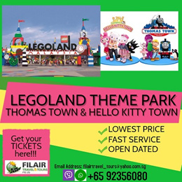 [Fil Air] Legoland Themed Park + Thomas Town and Sanrio Hello Kitty Town COMBO/BEST PRICE GUARANTEE