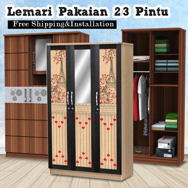 uni Eiffel In Love Lemari Pakaian 2-3 Pintu Deals for only Rp885.000 instead of Rp885.000