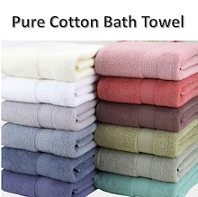 100% PURE COTTON BATH TOWEL ✼SOFT | THICK | COMFY | ABSORBENT | QUICK DRY | HIGH QUALITY