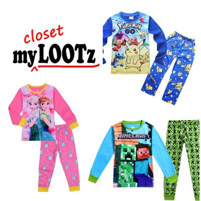 Cartoon Caluby Pajamas Pyjamas PJ for kid boy girl children ( 5628d6fed