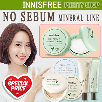 ?Innisfree? No Sebum Mineral Powder/Mineral Pact/Blur Powder/Blur Pact Deals for only Rp720.300 instead of Rp2.118.530