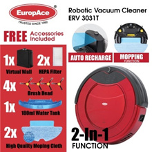 *NEW LAUNCH* EuropAce Robotic Vacuum Cleaner (Wet and Dry) ERV 3031T Auto Cleaning - 1 Year Warranty