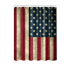 Shower Curtains Waterproof Polyester American Flag Nebula Star Pattern Shower Curtain Creative New P