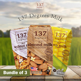 [Pre Order for 2nd week of May] Bundle of 3 - 137 Degrees  Almond Milk 180ml (7 flavors)