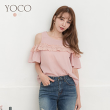 YOCO - Lacer Cut Off-Shoulder Top-190985
